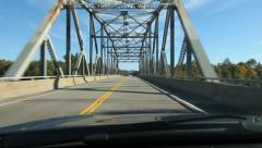 Driving across a truss bridge. Northern Ontario, Canada. Stock Footage