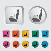 Icon heated seat. - stock illustration