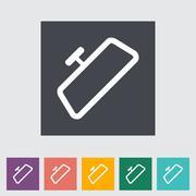 Stock Illustration of Mirror single flat icon.