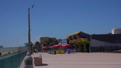 Daytona Beach boardwalk looking south Stock Footage