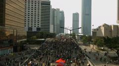 Hong Kong Protests - stock footage