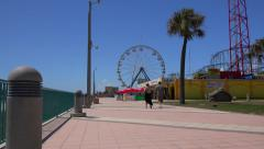 Daytona Beach boardwalk and amusements - stock footage