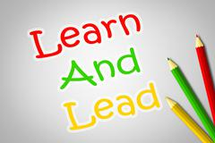 Learn and lead concept Stock Illustration