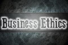 Business ethics concept Stock Illustration