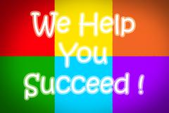 Stock Illustration of we help you succeed concept