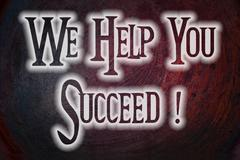 We help you succeed concept Stock Illustration