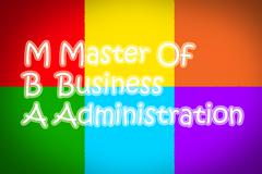 Master of business administration concept Stock Illustration