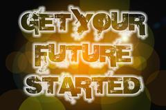 Get your future started concept Stock Illustration