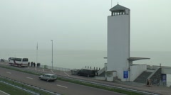 Monument on the  AFSLUITDIJK Stock Footage