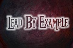 Lead by example concept Stock Illustration