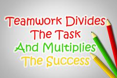 teamwork divides the task and multiplies the success concept - stock illustration