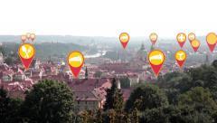 Landmarks in Prague Stock Footage