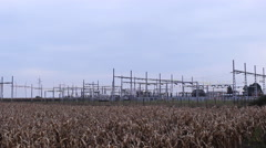 KWh electricity power station agriculture field Stock Footage