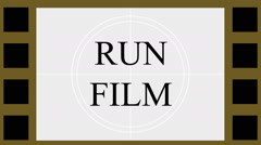 Film Strip Countdown - stock footage