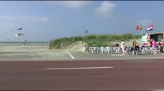 Cafetaria on the Brouwersdam - stock footage