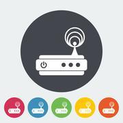 Router single icon. - stock illustration