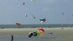 The Brouwersdam is part of The Deltaworks Kites Stock Footage