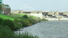 The Brouwersdam is part of The Deltaworks Stock Footage