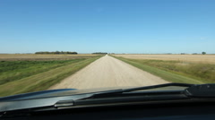 Driving on a country road in southern Manitoba, Canada. Stock Footage