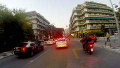 Thessaloniki, greece - circa october, 2014: 4k timelapse driving at high spee Stock Footage