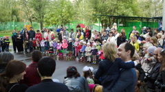 Nursery school assembly on 1 of September Stock Footage