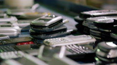 Electronic Recycling Plant - Cell Phones 4 Stock Footage