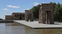Templo de Debod (Temple of Debod) Stock Footage