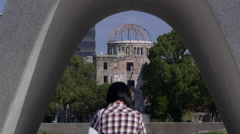 Hiroshima Atomic Bomb Dome And Peace Park Memorial Stock Footage