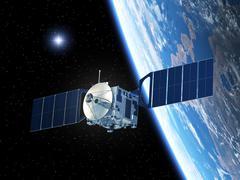 Satellite And Star Stock Illustration