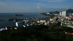 Time Lapse of Koh Loi island and Sriracha city, Chonburi, Thailand Stock Footage