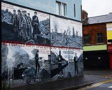 Political mural - stock photo