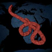 Microscopic view of the Ebola virus Stock Illustration