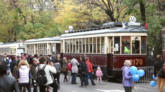 Old tramways Stock Footage