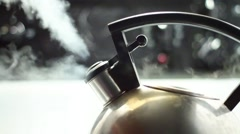 Kettle Steam - 60FPS Stock Footage