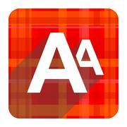 Alphabet red flat icon isolated. Stock Illustration