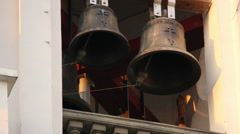 Bells ring in the church Stock Footage