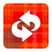 rotation red flat icon isolated. - stock illustration