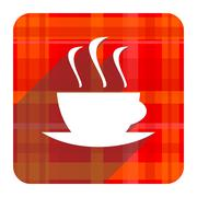 Espresso red flat icon isolated. Stock Illustration
