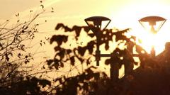 Lantern at sunset Stock Footage
