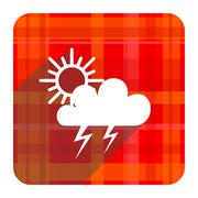 Storm red flat icon isolated. Stock Illustration