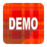 demo red flat icon isolated. - stock illustration