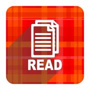 read red flat icon isolated. - stock illustration