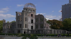 Students Visit Hiroshima Peace Park Memorial Stock Footage