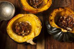 homemade roasted acorn squash - stock photo