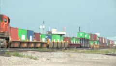 Long Freight Train Stock Footage