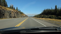 Driving on sunny stretch of Northern Ontario highway. Stock Footage