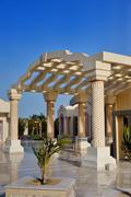 Beautiful columns. entrance to the hotel. egypt Stock Photos