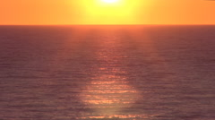 Timelapse with sunset, over the sea. Mediterranean red sun in the evening. Stock Footage