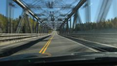 Time lapse of driving across a long truss bridge. Northern Ontario, Canada. Stock Footage