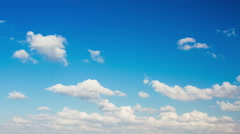 Clouds in the blue sky. - stock footage
